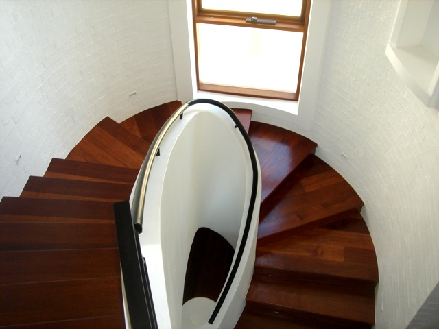 Stairway after timber flooring renovation